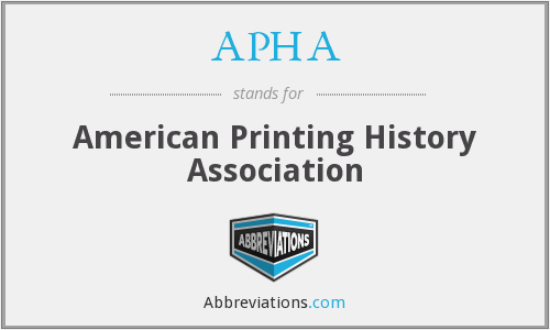 APHA - American Printing History Association