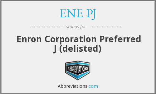 What does ENE PJ stand for?