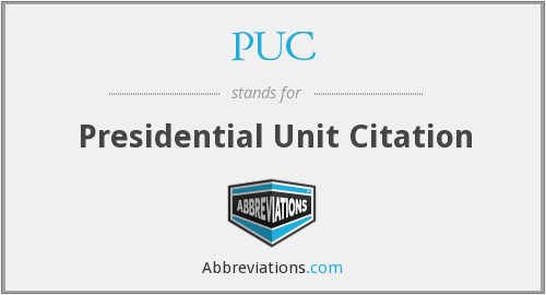 PUC - Presidential Unit Citation