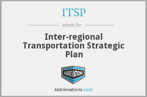 ITSP - Inter-regional Transportation Strategic Plan