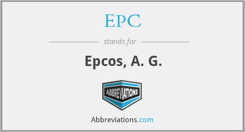 EPC - Epcos, A. G.