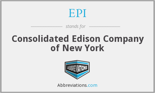 EPI - Consolidated Edison Company of New York