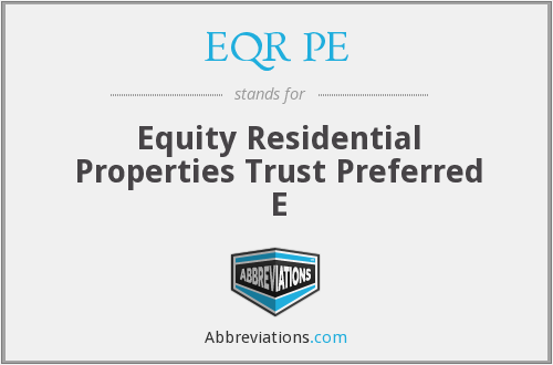 What does EQR PE stand for?