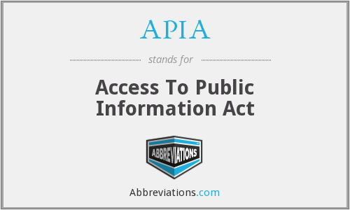APIA - Access To Public Information Act