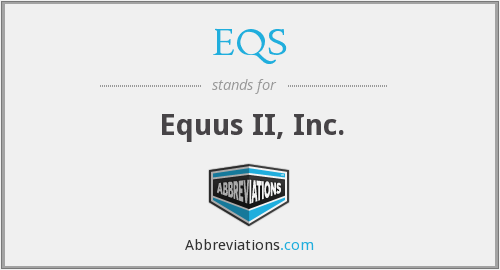 What does EQS stand for?