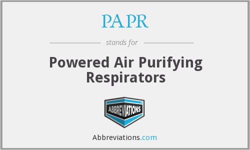 PAPR - Powered Air Purifying Respirators