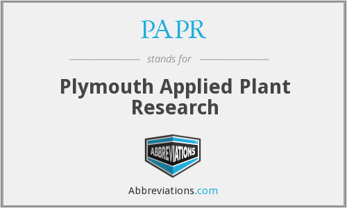 PAPR - Plymouth Applied Plant Research