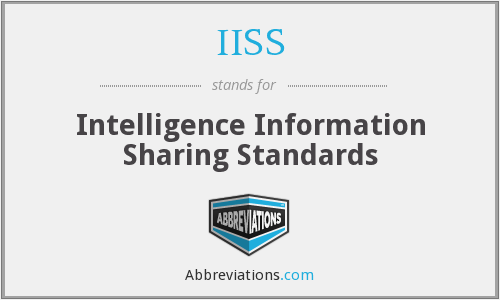 IISS - Intelligence Information Sharing Standards