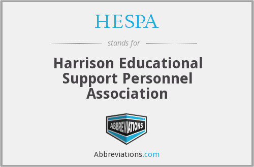 What does HESPA stand for?