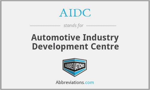 AIDC - Automotive Industry Development Centre