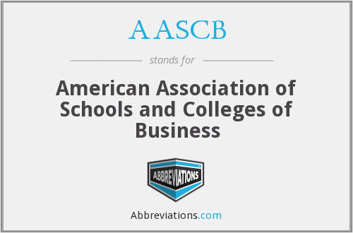 AASCB - American Association of Schools and Colleges of Business
