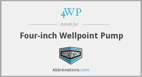 4WP - Four-inch Wellpoint Pump