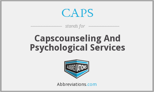 CAPS - Capscounseling And Psychological Services