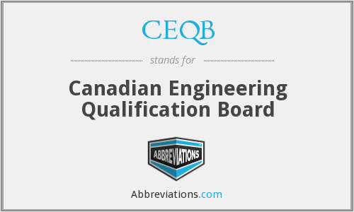 CEQB - Canadian Engineering Qualification Board