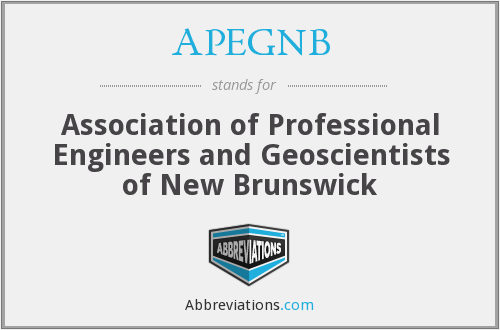 APEGNB - Association of Professional Engineers and Geoscientists of New Brunswick