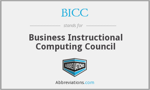 BICC - Business Instructional Computing Council
