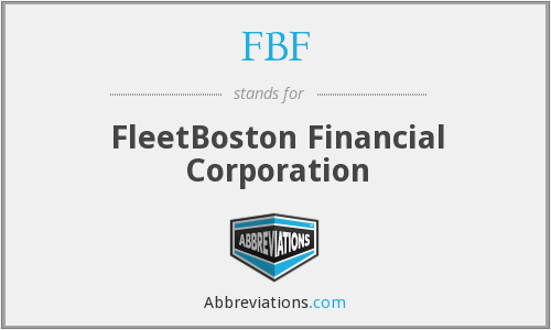 FBF - FleetBoston Financial Corporation