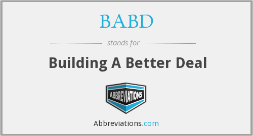 BABD - Building A Better Deal