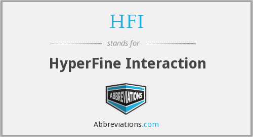 HFI - HyperFine Interaction
