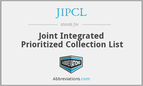 JIPCL - Joint Integrated Prioritized Collection List