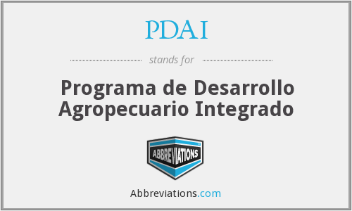 PDAI - Programa de Desarrollo Agropecuario Integrado