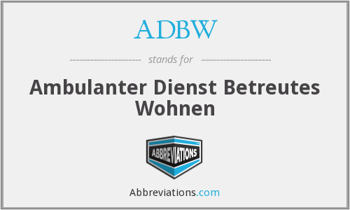 What does ADBW stand for?