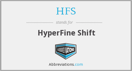 HFS - HyperFine Shift