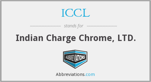 ICCL - Indian Charge Chrome, LTD.