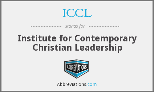 ICCL - Institute for Contemporary Christian Leadership