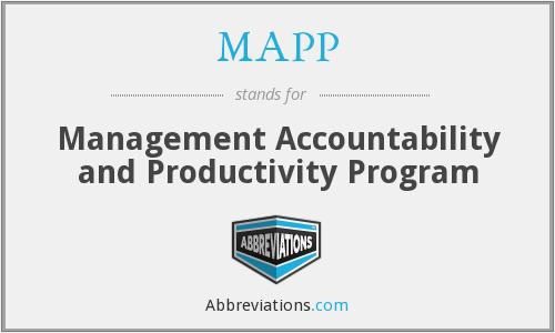 MAPP - Management Accountability and Productivity Program