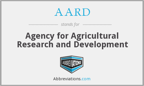 AARD - Agency for Agricultural Research and Development
