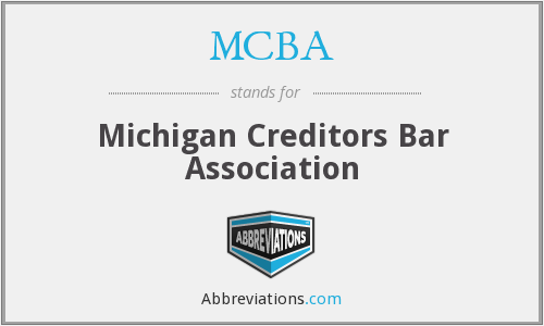 MCBA - Michigan Creditors Bar Association