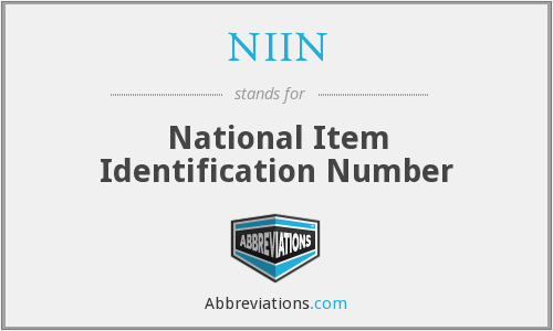 NIIN - National Item Identification Number