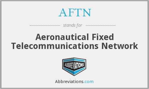 AFTN - Aeronautical Fixed Telecommunications Network