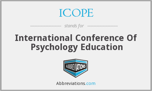 ICOPE - International Conference Of Psychology Education