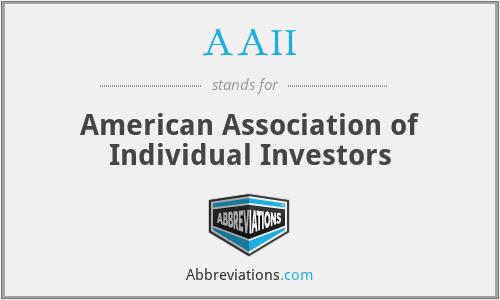 AAII - American Association of Individual Investors