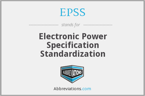 EPSS - Electronic Power Specification Standardization