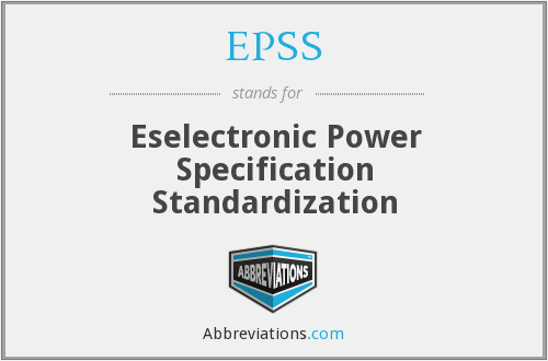 EPSS - Eselectronic Power Specification Standardization