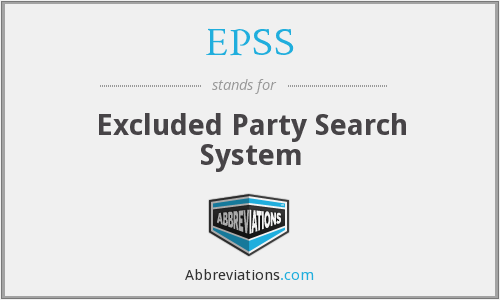 EPSS - Excluded Party Search System