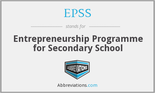 EPSS - Entrepreneurship Programme For Secondary School