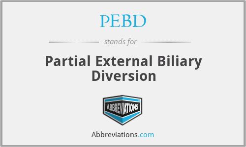 PEBD - Partial External Biliary Diversion