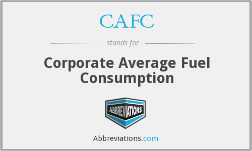 CAFC - Corporate Average Fuel Consumption