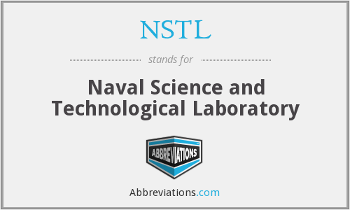 NSTL - Naval Science and Technological Laboratory