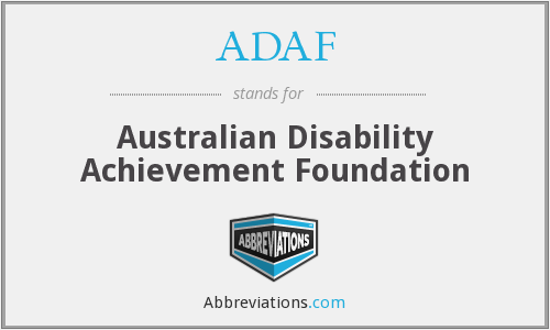 ADAF - Australian Disability Achievement Foundation