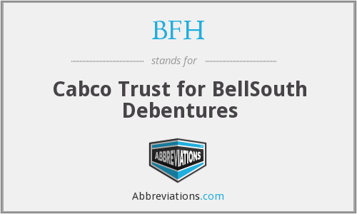 BFH - Cabco Trust for BellSouth Debentures