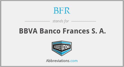 BFR - BBVA Banco Frances S. A.