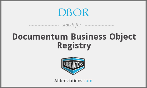 DBOR - Documentum Business Object Registry