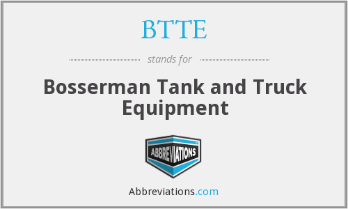 BTTE - Bosserman Tank and Truck Equipment