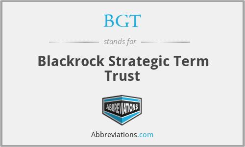 BGT - Blackrock Strategic Term Trust