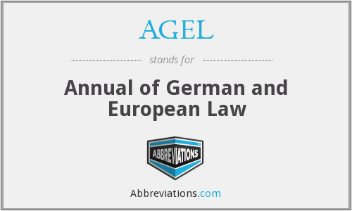 AGEL - Annual of German and European Law